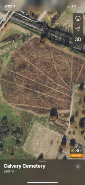St Louis Fire Break like Crop Circles in Restoration Habitat